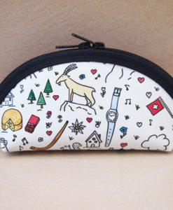 Alltagtasche-Schweizer-Kollektion-Handmade-Necessaire-Schmal-Rund-vorne