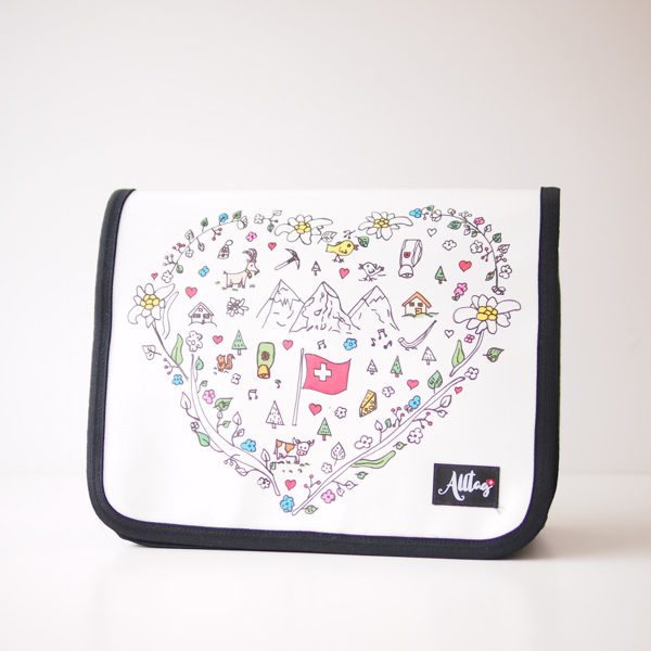 Alltagtasche-Deckel-Handtasche Schweizer Kollektion Herz CH