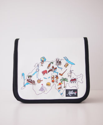Alltagtasche-Deckel-Handtasche Schweizer Kollektion Landkarte CH