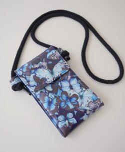 """Handtasche """"Little Foksa"""" Schmetterlinge blau/schwarz/weiss"""