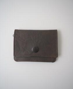 klein mit Reissverschluss Vintage braun Portemonnaie