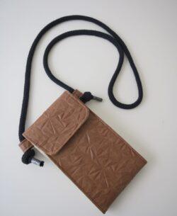 "Handtasche ""Little Foksa"" Kunstleder Knitter braun"