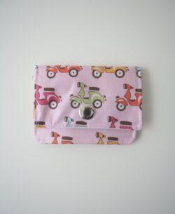 klein mit Reissverschluss Vespas bunt Portemonnaie